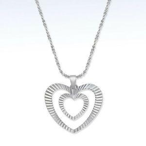 Giani Bernini Double Heart Pendant Necklace